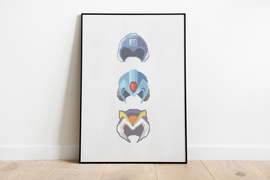 Quadro Pixel Art Megaman X Nerd Fan Art