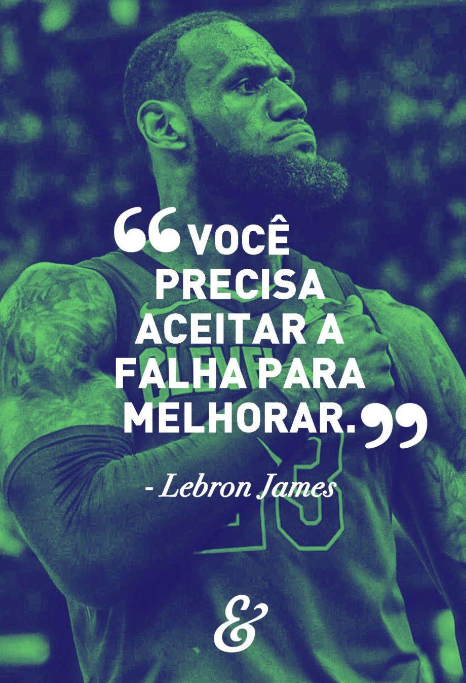 Poster Motivacional Esportes Lebron James