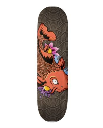 Carpa Koi Fish Tattoo Skateboard Shape Deck